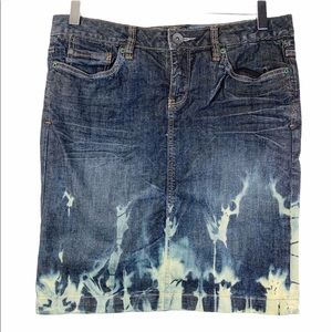 CONVERSE ONE STAR bleached tie dye jean skirt 8
